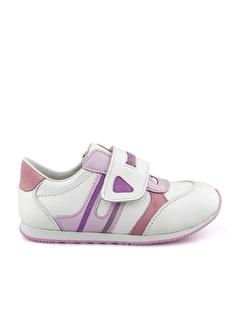 Cici Bebe Ayakkabı Cicibebe Deri Şeritli Kız Çocuk Spor Ayakkabısı